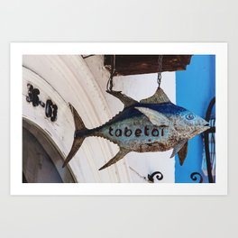 Tabetai Fish @ Cartagena Art Print