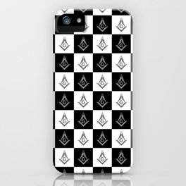 Freemason Checkered Pattern iPhone Case