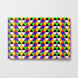 Neon Triangles of a Fluorescent Matrix Metal Print