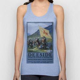 Deeside, British Travel Poster Unisex Tank Top