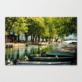 les bateaux Canvas Print
