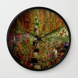 The Lilly Pond Path copper signature Wall Clock
