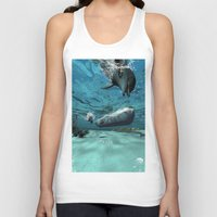 submarine Tank Tops featuring Submarine  by nicky2342