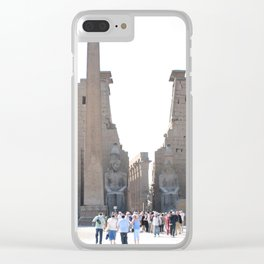 Temple of Luxor, no. 10 Clear iPhone Case