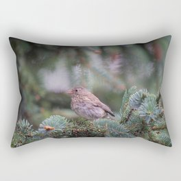 Backyard Visitor ~ I Rectangular Pillow