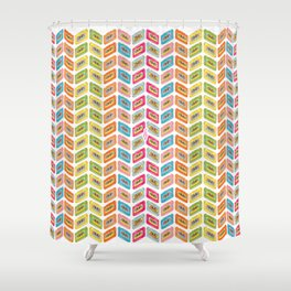 Music tape color fantasy Shower Curtain