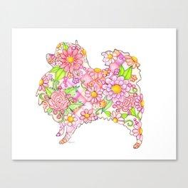 Pink Pomeranian Canvas Print