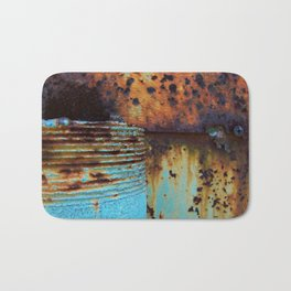Blue Pipe Bath Mat