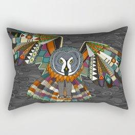 night owl charcoal Rectangular Pillow