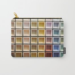 Abstract background of color square Carry-All Pouch