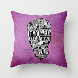 Typography Narrator Throw Pillow