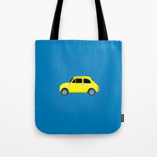 A tiny Fiat (blue) Tote Bag