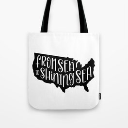 From Sea to Shining Sea US Map Tote Bag