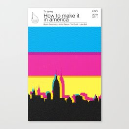 How to make it in america TV books Canvas Print