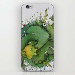 the green planet iPhone Skin