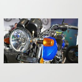 Headlight of road motorcycle bike classic Rug