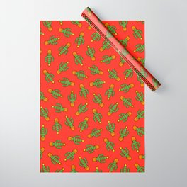 Cactus Christmas Tree in Red Wrapping Paper