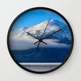 Winter Fog - Turnagain Arm, Alaska Wall Clock