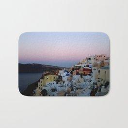 Dawn of Santorini Greece Bath Mat