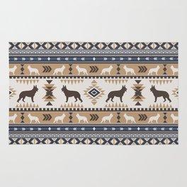 Boho dogs | German shepherd pattern tan Rug