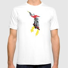 Robot Trousers Mens Fitted Tee White MEDIUM