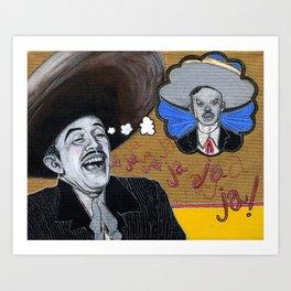 Pedro Infante vs. Jorge Negrete Art Print