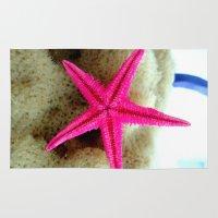 starfish Area & Throw Rugs featuring STARFISH by habish