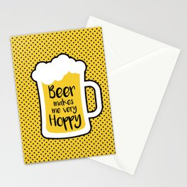 Beer Makes Me Hoppy Stationery Cards