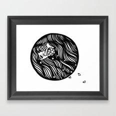 Circle Lady 1 Framed Art Print