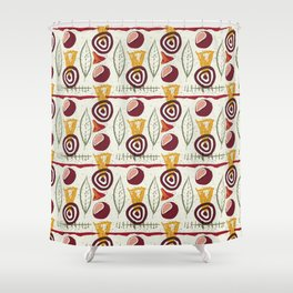 Flowers Abstract Pattern Shower Curtain