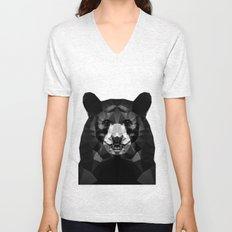 Bear - Black Geo Animal Series Unisex V-Neck