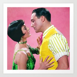 Gene Kelly & Cyd Charisse - Pink - Singin' in the Rain Art Print
