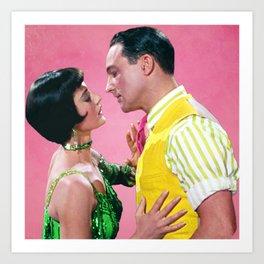 Gene Kelly & Cyd Charisse - Pink - Singin' in the Rain Art Print