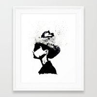 audrey Framed Art Prints featuring Audrey by Christie Rainey