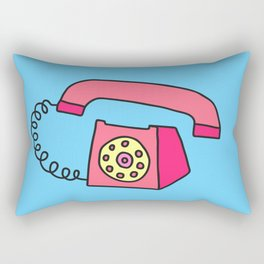 Vintage telephone drawing Rectangular Pillow