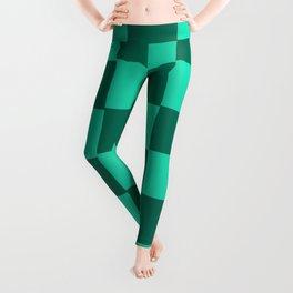 Jungle Green Chex Leggings
