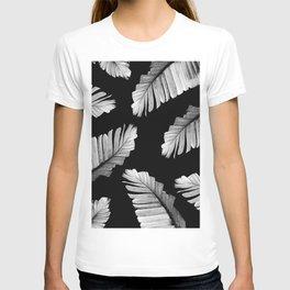 Tropical Gray White Banana Leaves Dream #2 #decor #art #society6 T-shirt