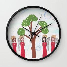 Angels Praying 2 Wall Clock