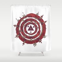 cycle Shower Curtains featuring The Cycle by Hector Mansilla
