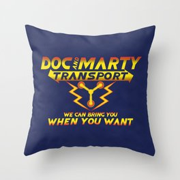 Doc and Marty Transport Throw Pillow