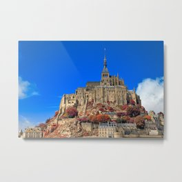 Autumn Shades of Mont Saint-Michel Metal Print