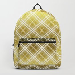 Royal Gold Tartan Plaid Check Backpack