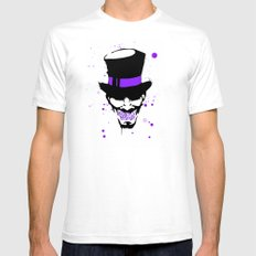 Mad Hatter Minimalism  White Mens Fitted Tee SMALL