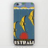 australia iPhone & iPod Skins featuring AUSTRALIA by Kathead Tarot/David Rivera