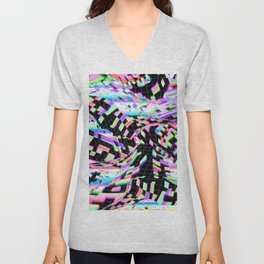 abstract colorful 3d Unisex V-Neck