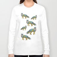 foxes Long Sleeve T-shirts featuring Foxes by nessieness