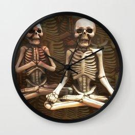 Zen Skeletons in my Closet Wall Clock