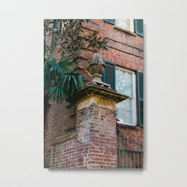 Charleston Pineapple Metal Print