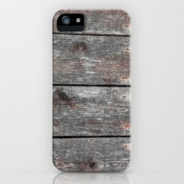 Grainy Wood II Portrait iPhone Case