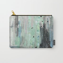 Bleu grey Abstract Carry-All Pouch